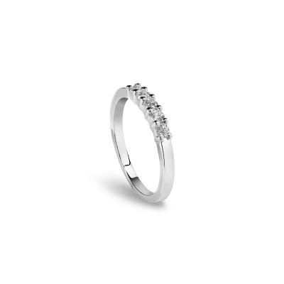 Anello Luce in oro bianco e diamanti 1.50 ct.