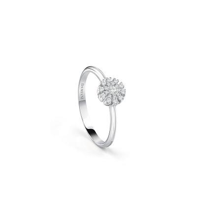 Anello Margherita in oro bianco e diamanti