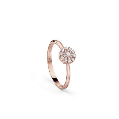 Anello Margherita in oro rosa e diamanti