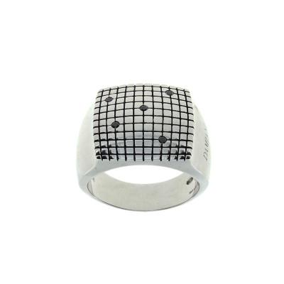 Anello Metropolitan argento e diamanti