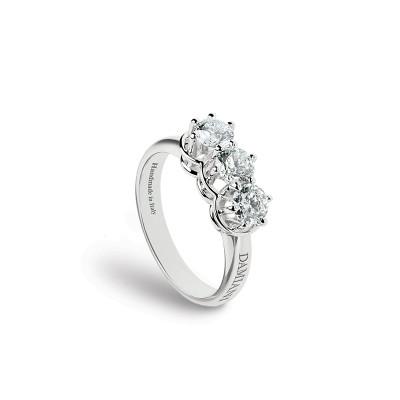 Anello Minou in oro bianco e diamanti 1,24 carati