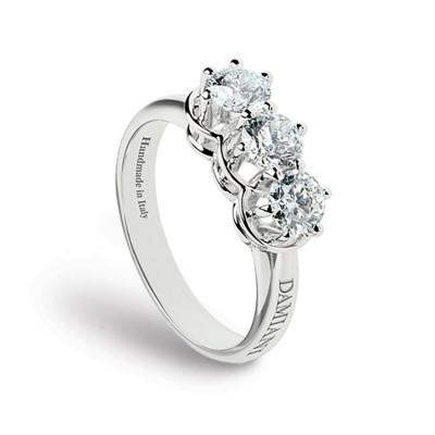 Anello Minou Trilogy oro bianco e diamanti