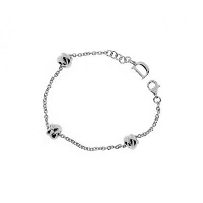Bracciale in argento con diamante