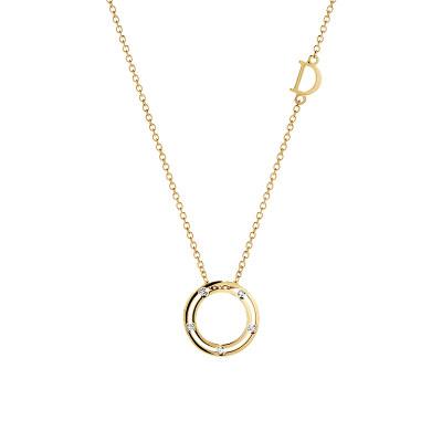 Collana in oro giallo e diamanti