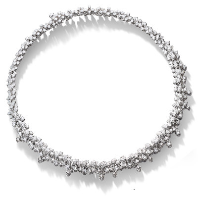 Collana Mimosa in oro bianco con diamanti