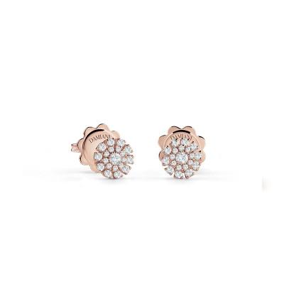 Orecchini Margherita in oro rosa e diamanti