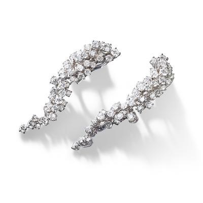OrecchiniMimosa in oro bianco con diamanti