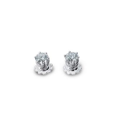Orecchini Minou in oro bianco e diamanti