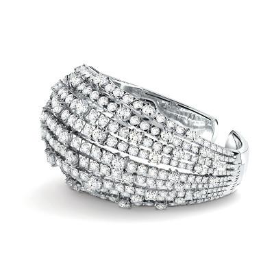 Bracciale Notte di San Lorenzo oro bianco e diamanti