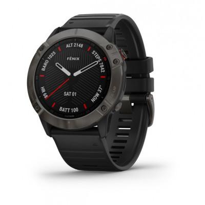 fēnix® 6X - Pro e Sapphire edition Sapphire, Carbon grey DLC con black band