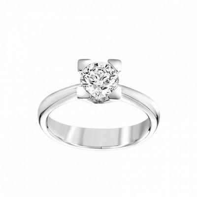 Anello Icona 4 in oro bianco e diamanti