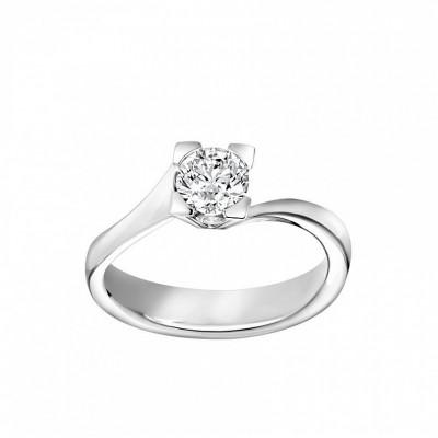 Anello Icona 8 in oro bianco e diamanti