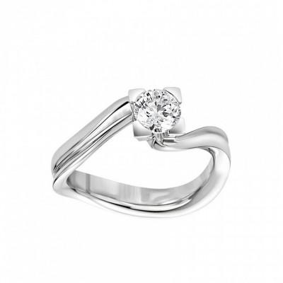 Anello Icona 5 in oro bianco e diamanti