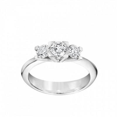 Anello Icona Cube in oro bianco e diamanti