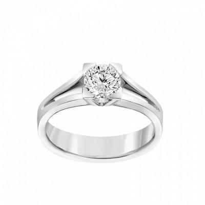Anello Icona 6 in oro bianco e diamanti