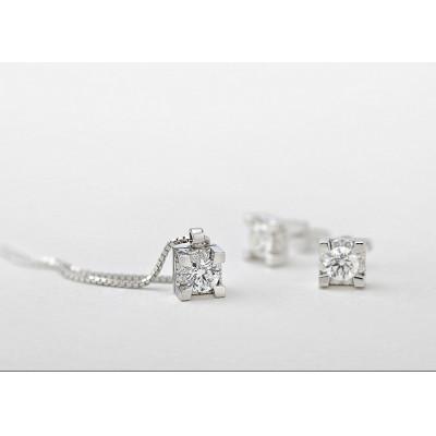 Girocollo in oro bianco e diamanti