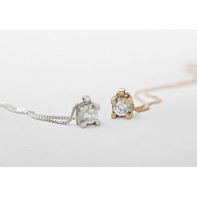 Girocollo in oro rosa e diamanti