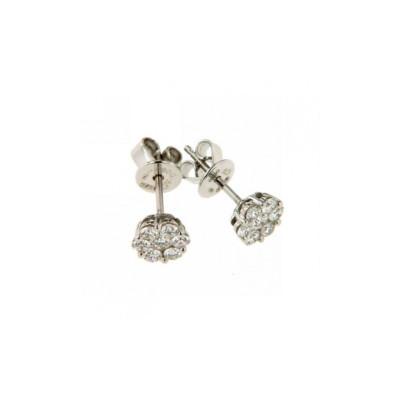 Orecchini oro e diamanti 0,50 Ct
