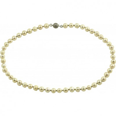 Girocollo basic perle bianche tonde