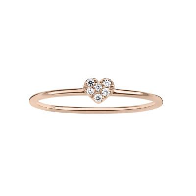 Anello Cuore diamanti