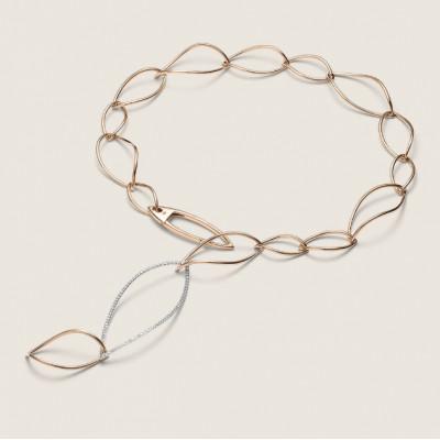 Collana Navettes diamanti 56 cm