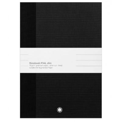 2 blocchi note Cancelleria di lusso #146 sottili, neri, a righe per Augmented Paper