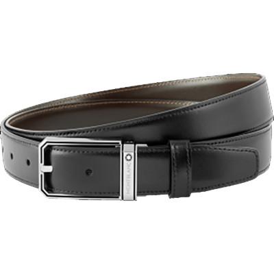 Cintura nera/marrone reversibile cut-to-size