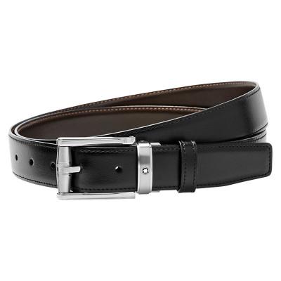 Cintura elegante nera/marrone reversibile regolabile