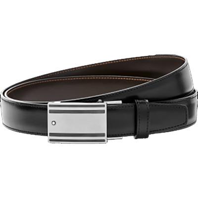 Cintura elegante nera/marrone reversibile cut-to-size