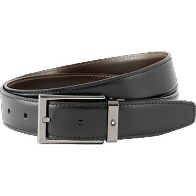 Cintura elegante nera/marrone reversibile su misura