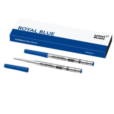 2 refill per penna a sfera (M) Royal Blue (blu)