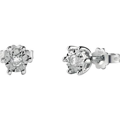Orecchini Rugiada in Oro Bianco e Diamanti
