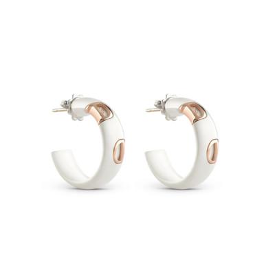 Orecchini in ceramica bianca e diamante