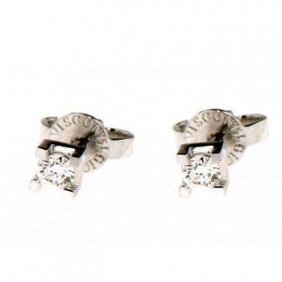 Orecchini in Oro con Diamanti 0,17 Ct