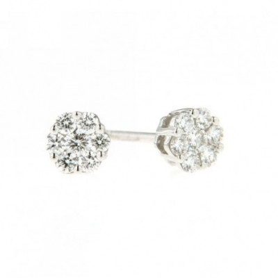 Orecchini in Oro con Diamanti 0,22 Ct