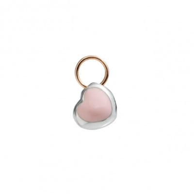 Micro Cuore smalto rosa