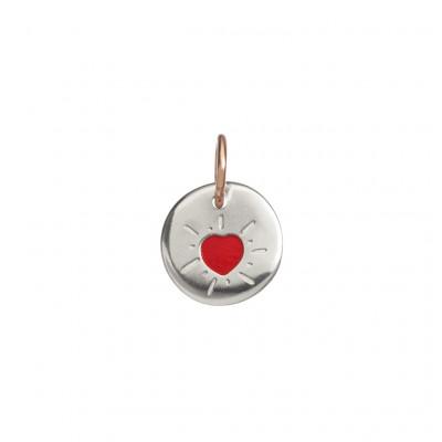 Micro Moneta Cuore rosso