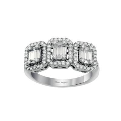 Anello Trilogy Magia in oro bianco con diamanti