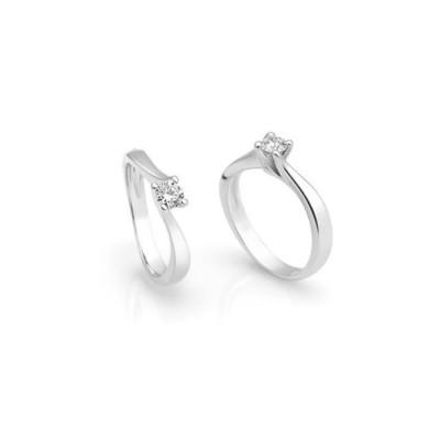 Solitario oro bianco diamante 0.28ct