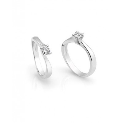 Solitario oro bianco diamante 0.20ct