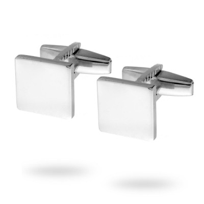 Gemelli forma quadrata argento