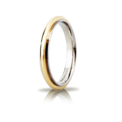 Fede Andromeda slim oro bicolore 3mm