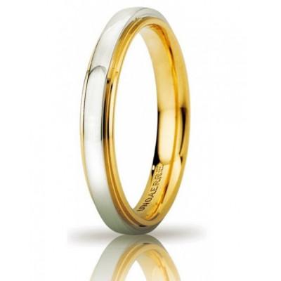 Fede Cassiopea slim oro bicolore 3mm