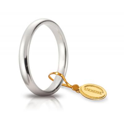 Fede nuziale in oro bianco 3mm