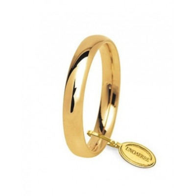 Fede nuziale in oro giallo 3,5mm