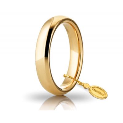 Fede nuziale in oro giallo 4mm