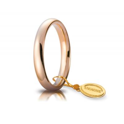 Fede nuziale in oro rosa 3,5mm