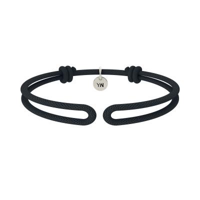 Bracciale One in nylon nero