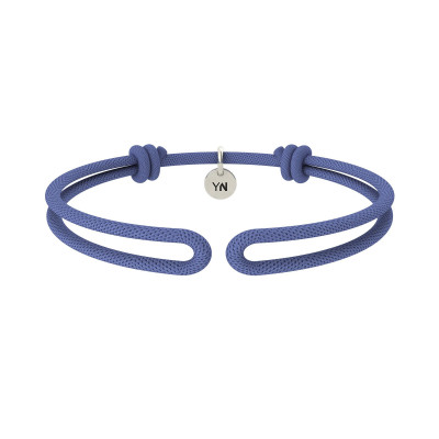 Bracciale One in nylon blu