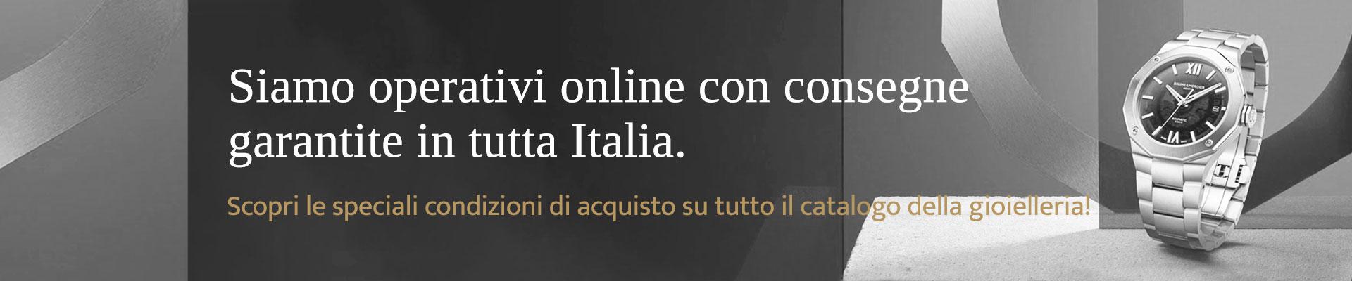 Gioelleria Pivano - Siamo operativi online con consegne garantite in tutta Italia